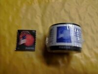 ONE ROLL OF 100 USPS FIRST CLASS FOREVER U.S. AMERICAN FLAG POSTAGE STAMPS