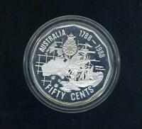 1988 AUSTRALIAN .50 SILVER COIN   FROM MASTERPIECES IN SILVER SET .925 SILVER