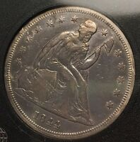 1844 SEATED DOLLAR  DATE WITH LOW MINTAGE