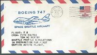 5/25/77 BOEING 747 TEST FLIGHT FOR SHUTTLE PILOTS FULTON AND MCMURTRY
