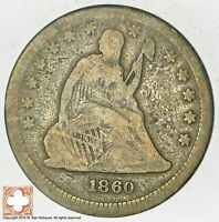 1860 SEATED LIBERTY SILVER QUARTER 5783