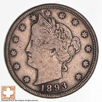 1893 LIBERTY V NICKEL 1364