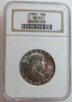 1963   FRANKLIN HALF DOLLAR NGC MS65