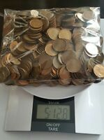 5 POUNDS CANADIAN PENNIES 98 COPPER BULLION   1980 TO 1996
