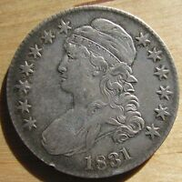1831 CAPPED BUST HALF DOLLAR   HIGH GRADE & NICELY TONED