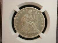 1877 CC CARSON CITY SEATED LIBERTY HALF DOLLAR 50C NGC CERTIFIED FINE DETAILS