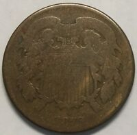 1870 2C TWO CENT PIECE