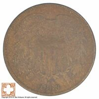 1869 TWO CENT PIECE XB73