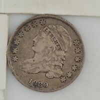 1830 CAPPED BUST DIME Z80