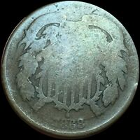 1868 2 CENT  BROWN TONE263
