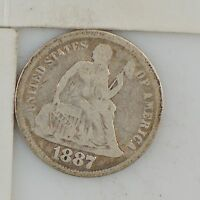 1887 LIBERTY SEATED DIME Z45