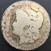 1893 O MORGAN SILVER DOLLAR AG DETAILS  COIN ONLY - 300,000 MINTED