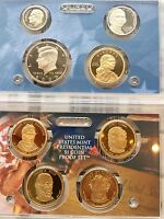 2009 S US MINT PRESIDENTIAL $1 PROOF SET  KENNEDY SACAGAWEA JEFFERSON 9 COINS