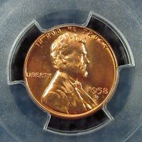 1958 D    LINCOLN CENT    PCGS     CERTIFIED      MS 66  RED       81689002  7