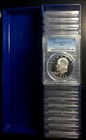 LOT OF 20   1972 S PCGS DCAM69 DEEP CAMEO PROOF SILVER EISENHOWER IKE DOLLARS