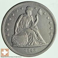 1843 SEATED LIBERTY SILVER DOLLAR 2338