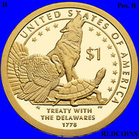 2014 D SACAGAWEA NATIVE AMERICAN UNCIRCULATED DOLLAR POS B