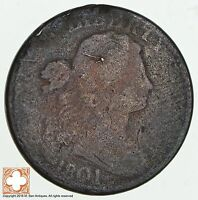 1801 DRAPED BUST LARGE CENT 1825