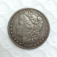 1893 S MORGAN SILVER DOLLAR ALMOST UNCIRCULATED  DATE COIN IN