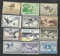 23 DIFFERENT UNITED STATES DUCK STAMPS USED