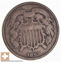 1864 TWO CENT PIECE 1766