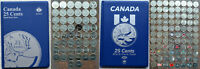1967 2019 CANADA 137 PCS 25 QUARTER COLLECTION IN ALBUM WITH VARIETIES