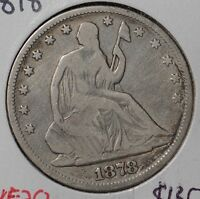 1878 50C LIBERTY SEATED HALF DOLLAR FINE 143496