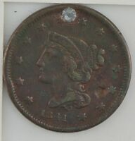 1841 BRAIDED HAIR LARGE CENT Z11