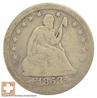 1853 SEATED LIBERTY SILVER QUARTER 046