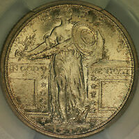 1917 TYPE ONE STANDING LIBERTY QUARTER PCGS MS66FH