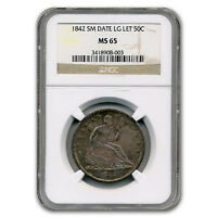 1842 LIBERTY SEATED HALF DOLLAR MS 65 NGC SMALL DATE   SKU 103197