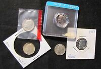 LOT OF 5 HIGH GRADE AND PROOF ROOSEVELT DIMES   1946 1958 PROOF 1962 1969 D