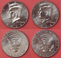 BRILLIANT UNCIRCULATED 2013 P & D US KENNEDY 50 CENTS FROM MINT'S ROLLS