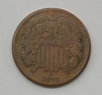 1870 TWO CENT PIECE Q16