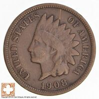 1908 S INDIAN HEAD CENT 4454