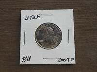 2007 P UTAH STATE QUARTER  BU FROM MINT ROLL