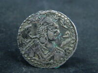 ANCIENT COPPER COIN HEPHTALITE 600 AD  BR1860
