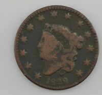 1829 MATRON HEAD LARGE CENT 518