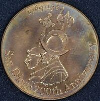 1769 1969 SAN DIEGO 200TH ANNIVERSARY COPPER MEDAL PROOF LIKE UNCIRCULATED