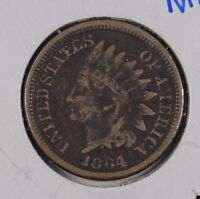 1864 1C COPPER NICKEL INDIAN CENT GOOD CONDITION 165071