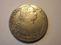 1791 SILVER 8 REALES SPANISH COLONIAL CHARLES IV MEXICO  SILVER COIN