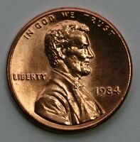 1984 LINCOLN CENT GEM BU US COIN