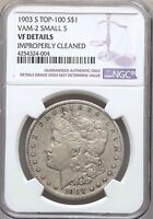 1903-S MICRO S VAM-2 NGC VF DETAILS MORGAN SILVER DOLLAR SMALL S VARIETY TOP 100