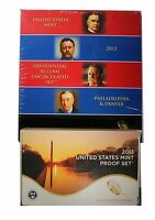 2013 US MINT CLAD PROOF & PRESIDENTIAL $1 P & D COIN SET   LOT OF 2 SETS