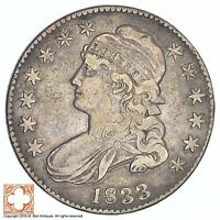 1833 CAPPED BUSTED HALF DOLLAR XB38