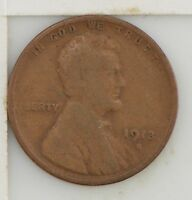 1913-S LINCOLN WHEAT EARS CENT Z44