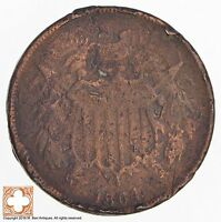 1864 TWO CENT PIECE 4502