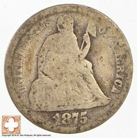 1875 SEATED LIBERTY SILVER DIME 2908