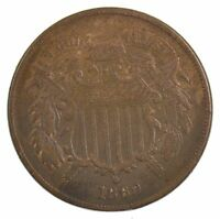1869 TWO-CENT PIECE J08
