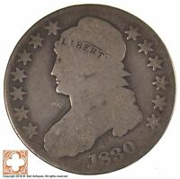 1830 CAPPED BUST HALF DOLLAR LETTERED EDGE J86